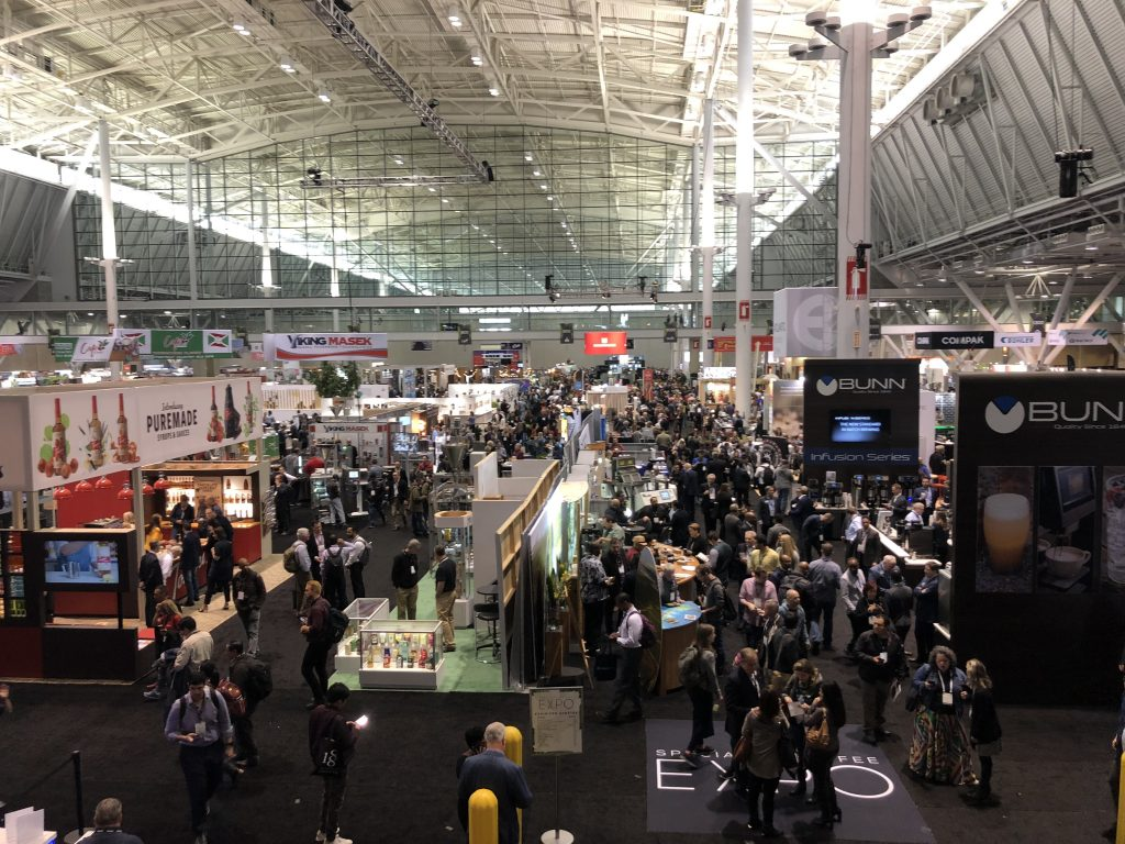 2019 Specialty Coffee Expo in Boston - Overhead view