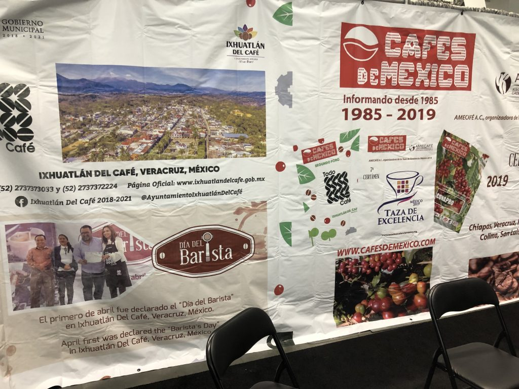 The Cafes de Mexico booth at the 2019 Specialty Coffee Expo in Boston