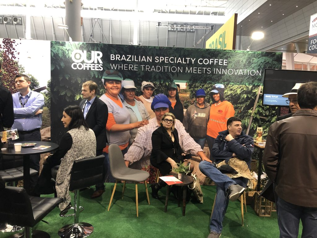 The Brazilian Specialty Coffee booth at the 2019 Specialty Coffee Expo in Boston