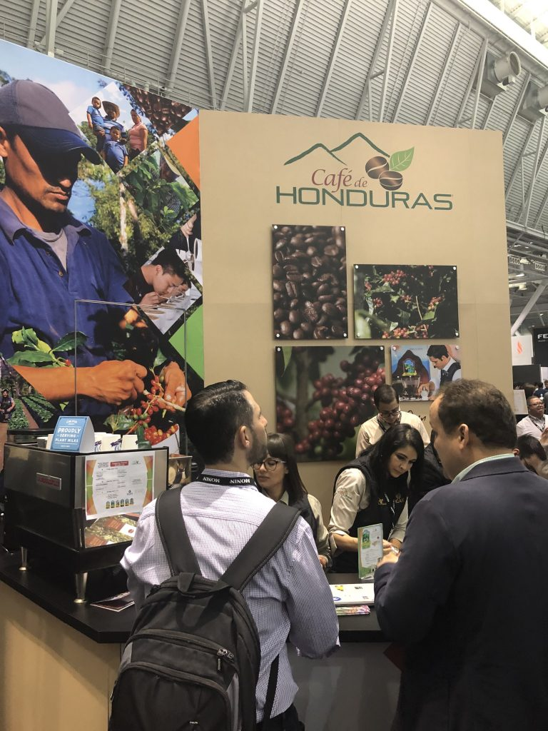 The Café de Honduras booth at the 2019 Specialty Coffee Expo in Boston