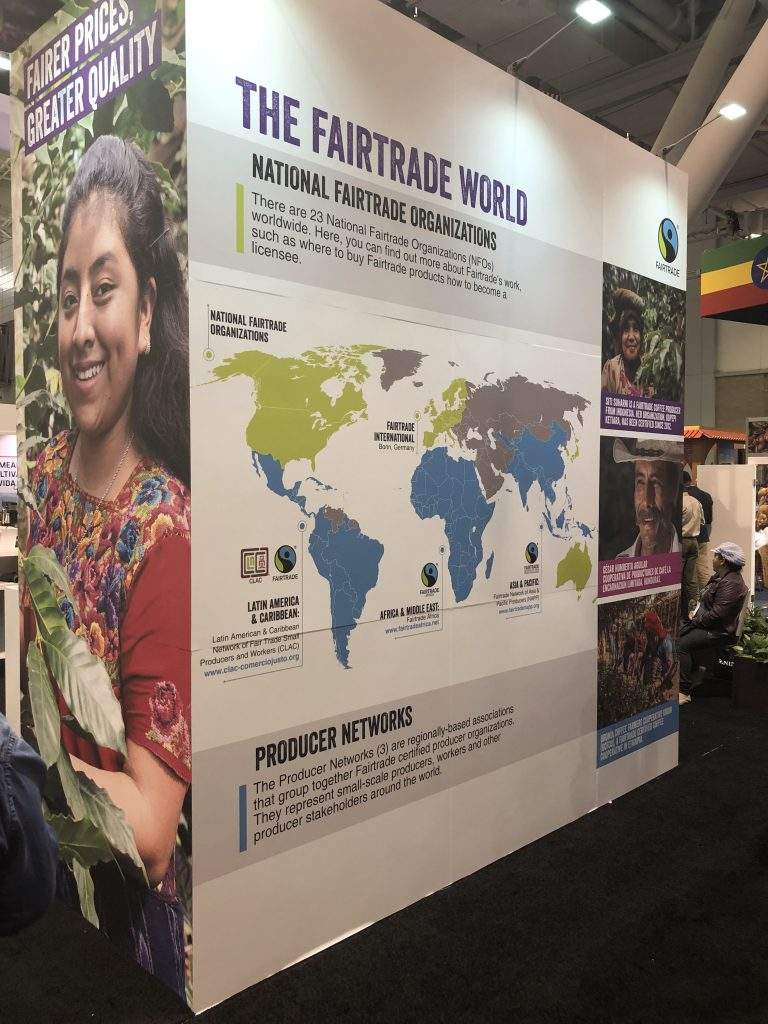 The Fairtrade Network booth at the 2019 Specialty Coffee Expo in Boston